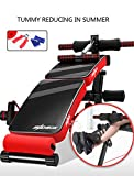 Emsems Heimtrainer, multifunktionale Crosstrainer zusammenklappbar Sit Ups Training, variabler Widerstand Bike Trainer (Style : Training board)