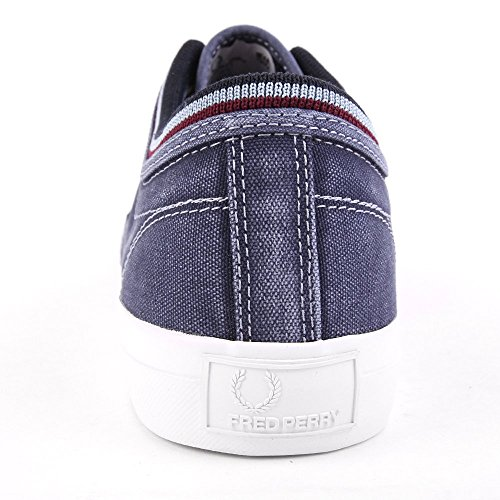 Fred Perry Kendrick Tipped Cuff Overdyed Canvas Navy B1145608, Turnschuhe Blau