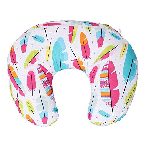 LULANDO Stillkissen, Nackenkissen und Lagerungskissen (55x42cm) für Babys und Erwachsene. Ideal auch für Kinder und als Reise-Kopfkissen. Farbe: Federn Mehrfarbig
