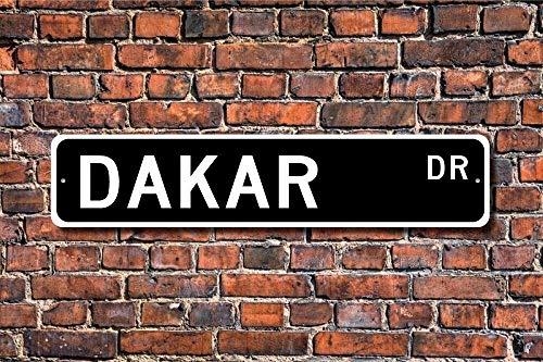 Dakar Geschenk Schild Dakar Besucher Souvenir Native Senegal West Afrika City Street Art Wall Decor Aluminium Metall Schild 45 x 10 cm