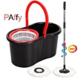 #1: PAffy Plastic Magic Spin Mop - Red & Black