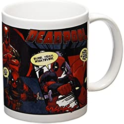 Deadpool Comic Taza de cerámica, multicolor