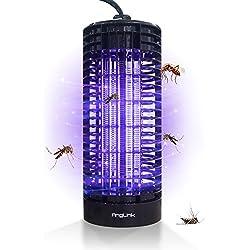 AngLink Lámpara Anti-Mosquitos, LED Lámpara Anti Mosquitos Electrónica 6W, 365 Nanometros UV y Mata Mosquitos en Interior.