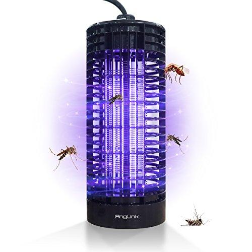 AngLink Elektrische Insektenvernichter, LED Insektenfalle mit 6W und 365 Nanometer UV-Licht Insektenabwehr für 50 m², für Kinderzimmer Schlafzimmer Wohnzimmer andere Innenumgebung
