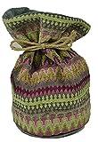 McAlister Textiles Aztec Kollektion | Textiler Türstopper im geometrischen Curitiba-Muster 14cm x 26cm in Rosa | Deko Türsack, Windstopper im Ethno-Look