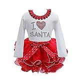 Patgoal Baby Mädchen Weihnachten Kleidung Weihnachtskostüm Baby Kleider