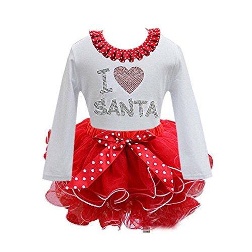 Patgoal Baby Mädchen Weihnachten Kleidung Weihnachtskostüm Baby (Star Halloween Baby Kostüme Wars)