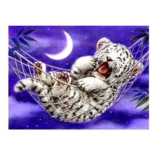 Eizur DIY Handmade Needlework Punto Croce Baby Tiger Design Ricamo Kit Precisa Stampato decorazione domestica Taglia