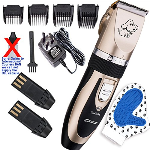 Professional-Home-Pet-Grooming-Clippers-Ultra-Quiet-Clipper-Kit-Quality-Rechargeable-Electric-Dog-Cat-other-Pet-Hair-Trimmer-Silicone-Glove-Massage-Cleaning-Pet-Brush-by-VERISA