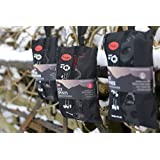 Ice spikes with bag - (CE tested) Large Grey UK10.5-13.5 - mini lightweight ice grips for snow and ice
