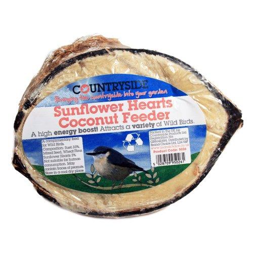 Brand Choice Countryside Mangeoire fabriquée en noix de coco avec cœurs de graines de tournesol