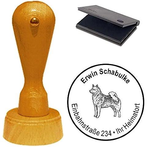 Timbro con cuscino « Spitz finlandese » cane animale domestico Finnish Spitz