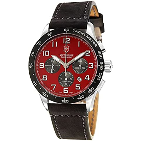 Swiss Army Air Boss Mach 6 Automatic Chronograph Steel Mens Strap Watch 24785