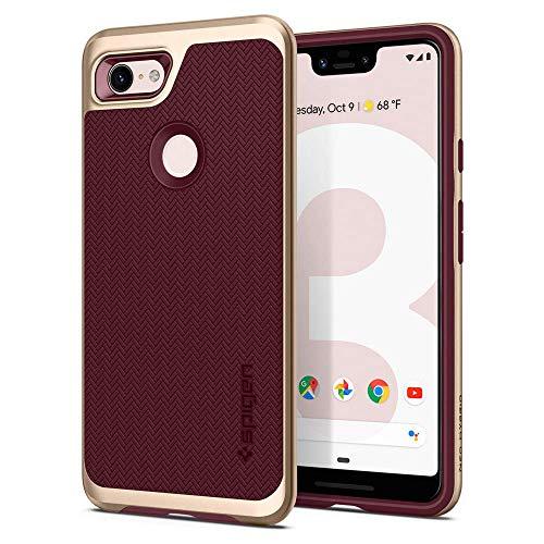 Spigen Neo Hybrid, Google Pixel 3 XL Hülle, F20CS25027 Zweiteilige Handyhülle Modische Muster Silikon Schale & PC Rahmen Schutzhülle Case (Burg&y)