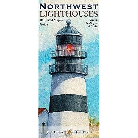 Northwest Lighthouses Illustrated Map & Guide: Oregon,
