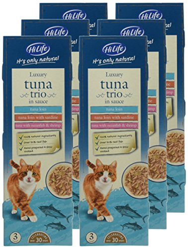 HiLife it's Only Natural Luxury Cat Food Tuna Trio in Sauce, 18 x 70g Cans 2