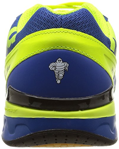 Kempa Attack Two, Chaussures de Handball homme Bleu (Royal/Jaune Fluo)