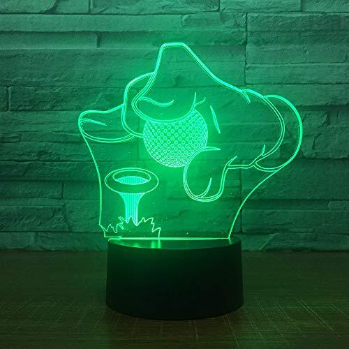 7 Farbwechsel Kreative Acryl Golf Modellierung LED Usb 3D Schreibtisch Tischlampe Led Nachtlicht Leuchte Sport Fans Geschenk