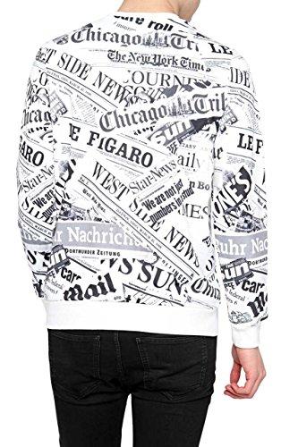 Berna Herren Pullover Sweatshirt CHICAGO NEWS Weiß