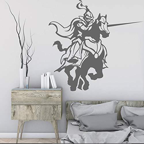 JJHR Wandtattoos Wandaufkleber Ritter Kämpfen Spiel Pferd Aufkleber Wohnzimmer Wandtattoos Wohnkultur Kunst Wandbild Tapete Poster 42 * 60 cm - Pferd Wandtattoos Zitate