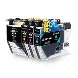 Paket Inhalt: 4-Pack-Uniwork-kompatible Tintenpatrone Brother LC3219XL (nicht OEM) 1 x Schwarz, 1 x Cyan, 1 x Magenta, 1 x Gelb Kompatibler Drucker: Brother MFC-J5330DW MFC-J5335DW Drucker Brother MFC-J5730DW MFC-J5930DW Drucker Brother MFC-J6530DW M...