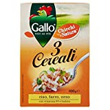 Gallo Riso 3 Cereali, Riso, Farro e Orzo - 400 gr