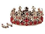 Icegrey Baroque Couronne Diadème Princesse en Strass pour Mariage ou Anniversaire Pageant Princesse Bandeau Bijoux Cheveux
