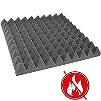 Akustik Schaumstoff Pyramiden Schall FSE FMVSS Schallschutz n. brennbar 45x45x6 P084