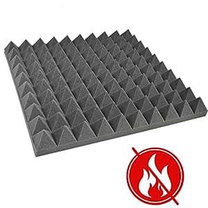 fortis p084 mousse acoustique en forme de pyramide non inflammable 45 x 45 x 6 cm. Black Bedroom Furniture Sets. Home Design Ideas