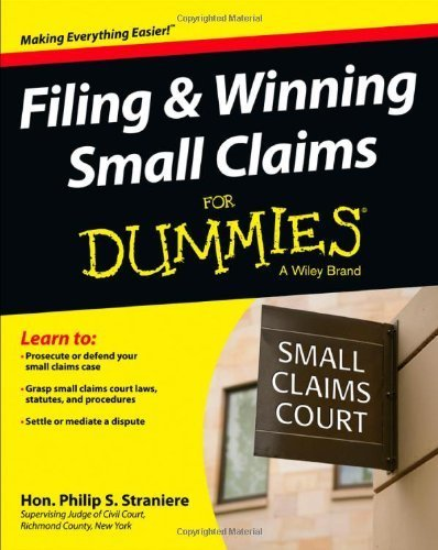 Filing & Winning Small Claims For Dummies by Judge Philip Straniere (2013-05-10)