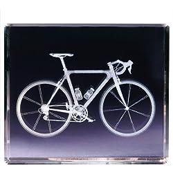 Classico 3D Cube Bicicleta, Vidrio, Transparente