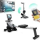 Bluefin Fitness Blade Heim-Gym Zusammenklappbares Rudergerät   Anpassbarer magnetischer Widerstand   8 x Intensitäts-Stufen   Reibungsloser Riemenantriebe   Smartphone-App