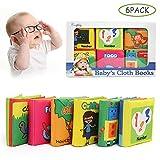 BelleStyle Libro Blando de Bebé, 6 Piezas Libro Activity Tejido Blando Papel del Bebé Juguete, Libro Blando para Baño, Educación Temprana y Desarrollo de Juguete, Regalo para Niños