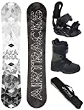 Airtracks Snowboard Set - Wide Board Akasha Wide 159 - Softbindung Star - Softboots Savage Black 43 - SB Bag