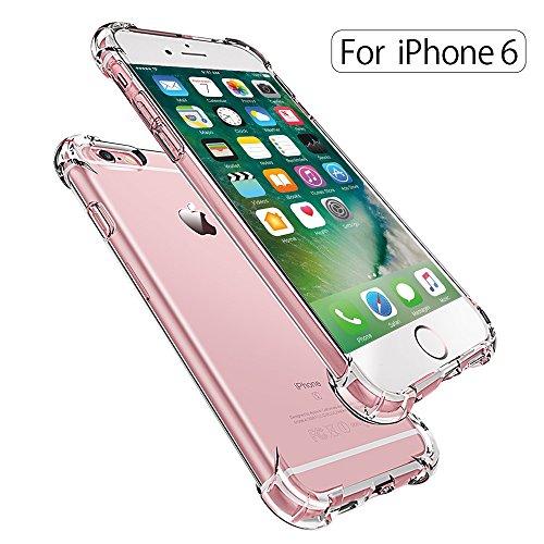 Fundas iPhone 6/6s,ONSON® Carcasa Funda Gel Transparente para iPhone 6 y 6S , Silicona TPU de Alta Resistencia y Flexibilidad