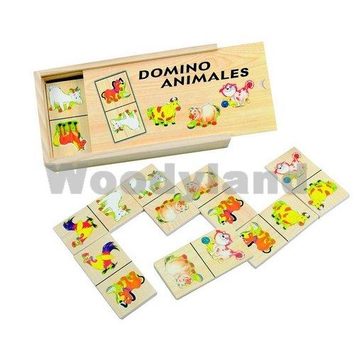 DOMINO HOLZDOMINO HOLZ TIERE Holzspielzeug Kinderland ()