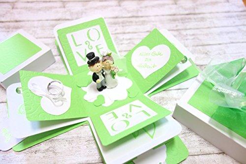 Geldgeschenk Geschenk zur Hochzeit Explosionsbox