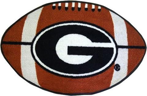 NCAA Georgia Bulldogs Football Shaped Rug