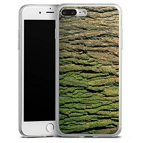 Apple iPhone 8 Plus Slim Case Silikon Hülle Schutzhülle Baumrinde Rinde Look Baum Holz Silikon Slim Case transparent