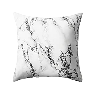 "POPLY Cushion Covers Pillow Home Geometric Marble Texture Throw Pillow Case Cushion Cover Sofa Home Decor,45cm*45cm/18""*18"",Series (I)"
