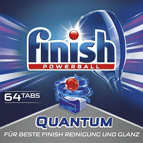 maschinentabs, Geschirrspültabs für beste Finish Reinigung und Glanz, Geschirrspülmittel, Megapack, 64 Tabs ()