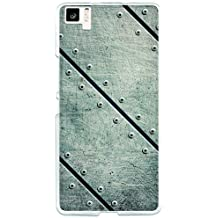 Funda Gel bq Aquaris M5 BeCool Placas Metal Remaches