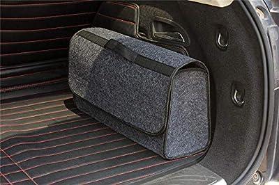 Exel 0007776 Grey Large Anti Slip Car Trunk Boot Storage Organiser Case Tool Bag-Suitable for Vehicle