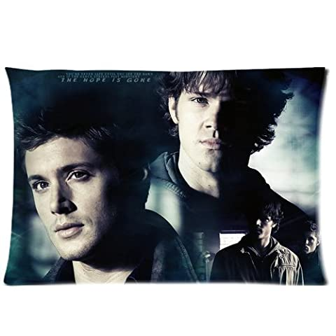Top Hot Famous TV Series Supernatural Dean Sam Winchester Brother Pattern Personalized Custom Soft Rectangle Zippered Pillow Case Cover 20X30 (Twin Sides)