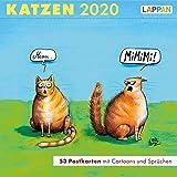 Katzen – Postkartenkalender 2020: 53 Postkarten mit Cartoons und Sprüchen