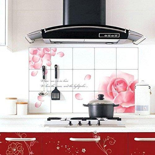 Vovotrade® Amovible Bricolage Cuisine Décor Maison Stickers Aluminium Foil Autocollant Mural