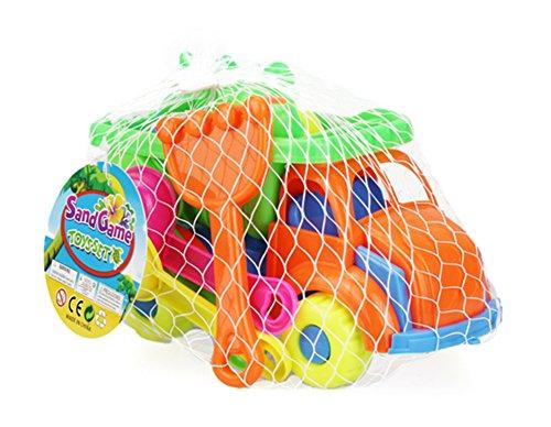 PYRUS Juguetes plástico de playa para niños, juguetes para el baño, diseño de total 11 pieces, Color aleatorio
