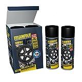 carstyling XXL Felgenfolie Mibenco schwarz matt (4 Dosen à 400 ml im Set) auch für Karosserie! ~ schneller Versand innerhalb 24 Stunden ~