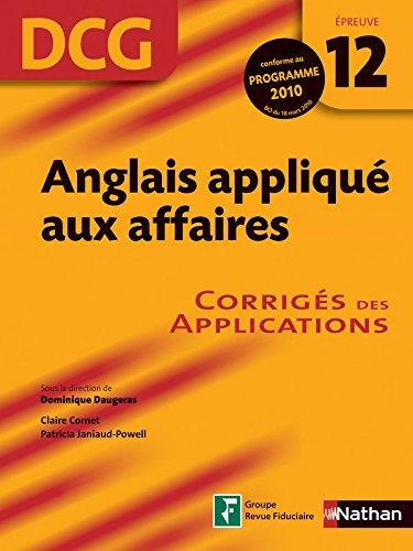 ANGLAIS APPL AFF EP 12 DCG COR