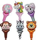 YueChen 28Pcs Palloncini Animali Giungla, Palloncini Unicorno per Party , Giocattoli per Festa ,Regali Feste Compleanno Bambini